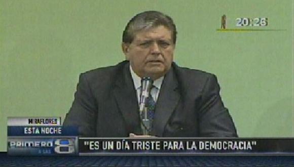 Alan García estuvo en homenaje al economista Richard Webb. (Captura de TV)