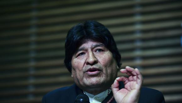 La investigación inició cuando encontraron un celular perdido donde se encontró conversaciones y fotos entre Evo Morales y una menor de edad.  (Foto de Ronaldo Schemidt / AFP)
