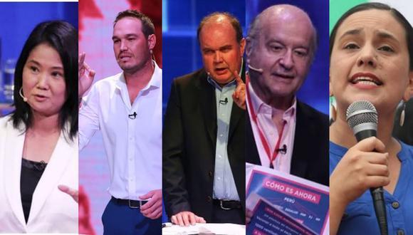 Elecciones 2021: Cinco candidatos se disputan el pase a la segunda vuelta.
