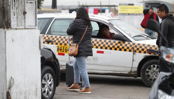 Los que presten servicio de taxi deberán implementar un sistema GPS. (Foto: Juan Ponce Valenzuela/GEC)