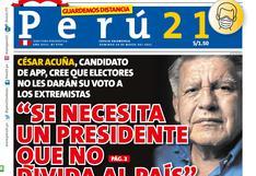 """""""Se necesita un presidente que no divida al país"""""""
