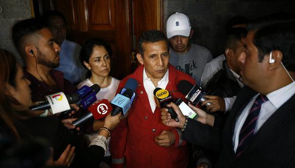 """Ollanta Humala calificó de """"abusiva"""" la medida tomada por el juez Concepción Carhuancho de dejar sin efecto la suspensión de incautación por 30 días. (Piko Tamashiro)"""