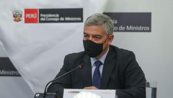 El titular del Ministerio del Interior, José Elice, exhortó a la ciudadanía utilizar estos objetos de forma pacífica. (Foto: Andina)