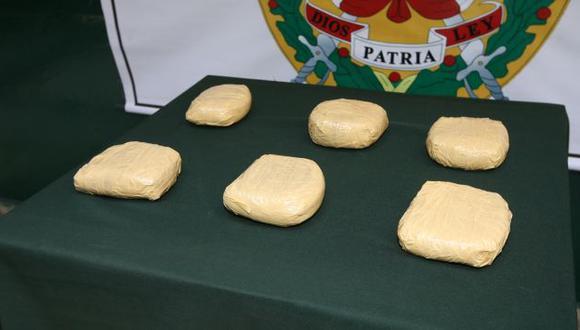 La droga estaba distribuída en 6 paquetes. (USI/Referencial)