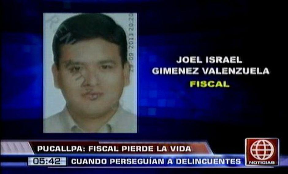 Tras el impacto, Giménez Valenzuela cayó sobre el pavimento. (Captura de TV)