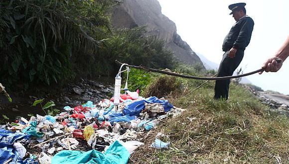 Los desperdicios pertenecen a varios hospitales de la capital. (Rafael Cornejo)