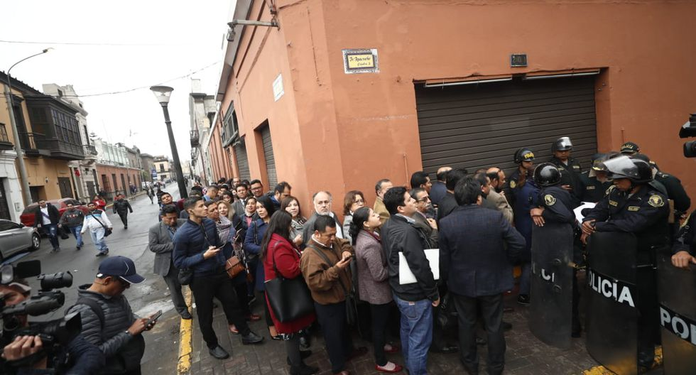 Así luce el Centro Histórico tras anuncio de Martín Vizcarra sobre el cierre del Congreso. (GEC)