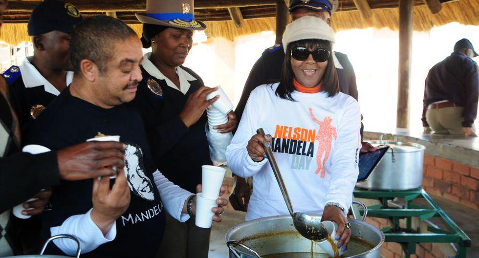 Mandela tiene una extraordinaria mejoría, dijo el jueves una de sus hijas Zindzi y Ndileka. (AFP)