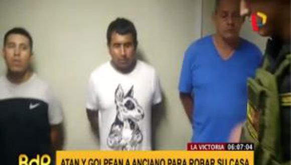 PNP capturó a delincuentes tras robo a anciano en La Victoria. (Captura/Panamericana)