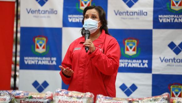 """Dina Boluarte señaló que ciertas preguntas no """"hacen bien a la sociedad"""". (Foto: Midis)"""