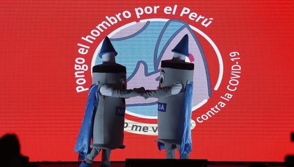 El anunció se hizo desde el centro de inmunización de la Videna, en el distrito de San Luis, donde se realizó la clausura de la tercera jornada de vacunatón. (Jorge Cerdan/GEC)
