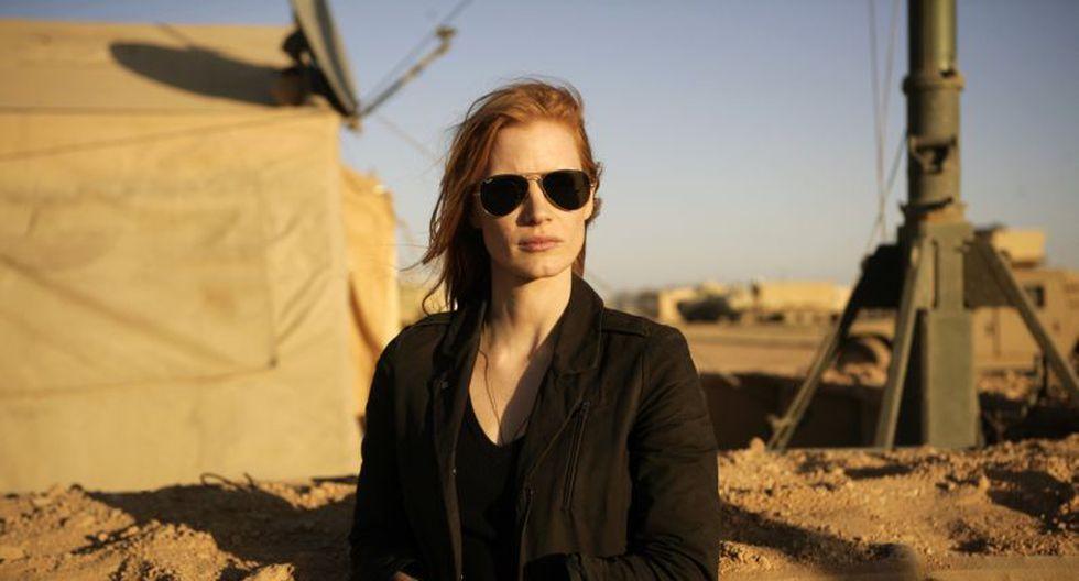 Jessica Chastain durante su participación en la película 'Zero Dark Thirty'. (AP)