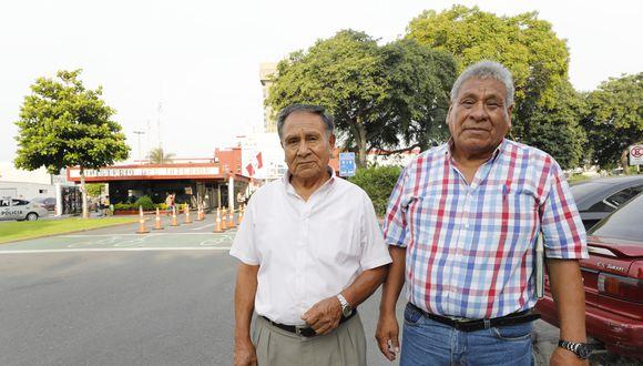 Deudos del Andahuaylazo llegaron hasta el Ministerio del Interior para una reunión con el ministro Morán. (Foto: Piko Tamashiro)