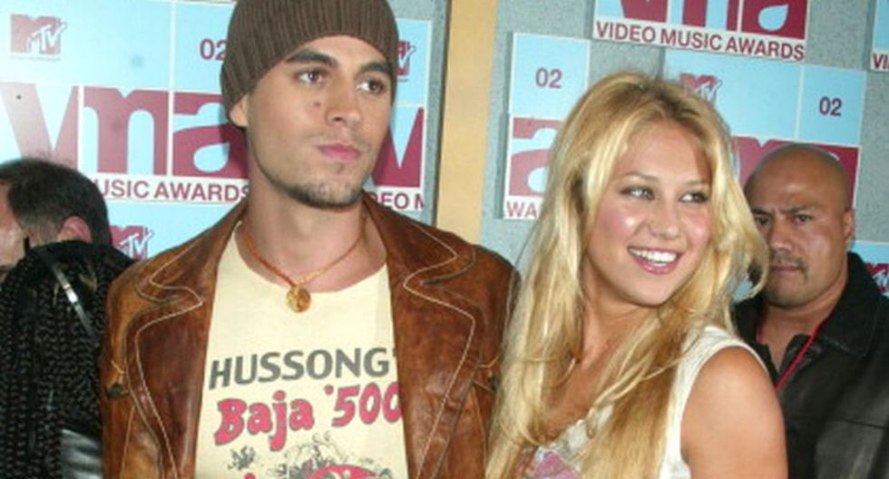 Enrique Iglesias y Anna Kournikova (Getty Images)