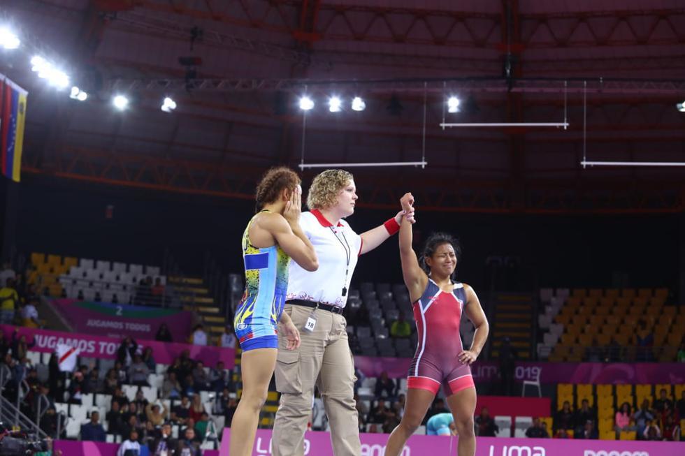 Gran combate. Thalía Mallqui le dio una medalla más a nuestro país. (Alessandro Currarino/GEC)