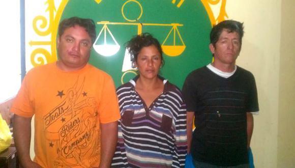 Policía detuvo a los tres implicados en extorsión. (Difusión)
