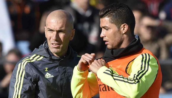 Zinedine Zidane volvió a contestar una pregunta sobre el regreso de Cristiano Ronaldo a Real Madrid. (Foto: AFP)