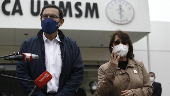 En el caso de Martín Vizcarra y Pilar Mazzetti, hubo excepciones para aplicarles la vacuna candidata. (Foto: Francisco Neyra / GEC)
