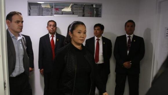Keiko Fujimori debía ser interrogada este lunes por el despacho del fiscal José Domingo Pérez. (Foto: GEC)