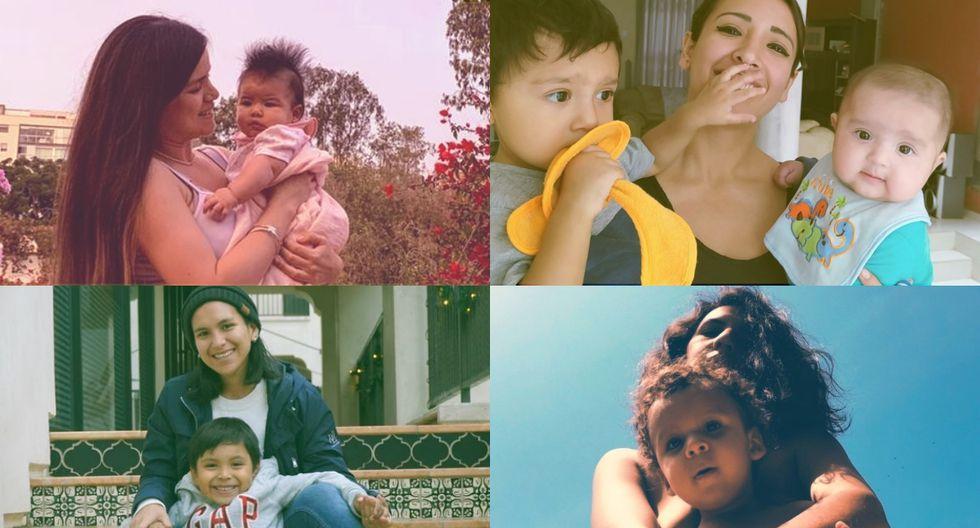 Brenda Rojas, Catherine Delgado, Kelly Tello y Lorena Lock cuentan sus historias de maternidad. (Perú21)