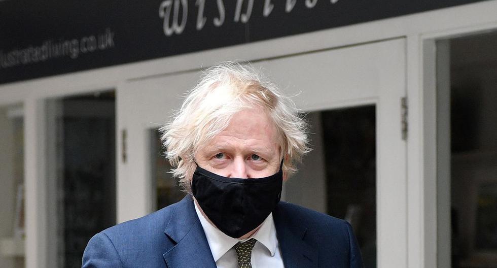 Imagen del primer ministro británico, Boris Johnson. (JUSTIN TALLIS / various sources / AFP).