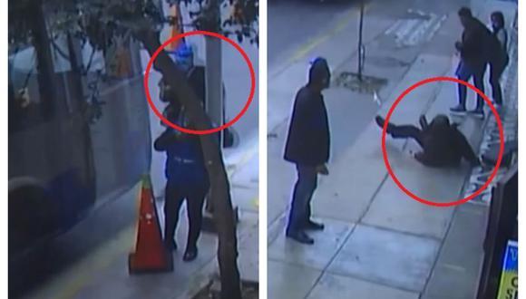 Hombre de 65 años fue atropellado por un bus del Corredor Azul en la cuadra 11 de la avenida Inca Garcilaso de la Vega. (Captura: América Noticias)