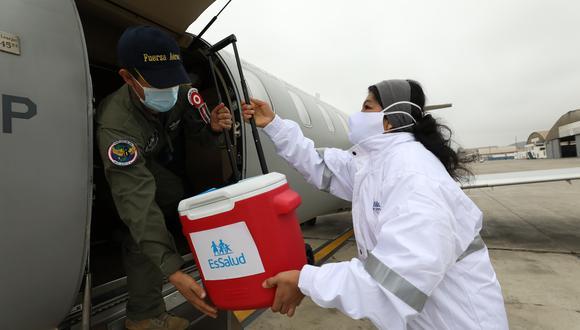 Los órganos donados fueron trasladados en coordinación con la Fuerza Aérea del Perú (FAP). (Foto: EsSalud)