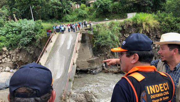 Indeci anuncia que se declarará en estado de emergencia el distrito de Huayopata. (Foto: Indeci)