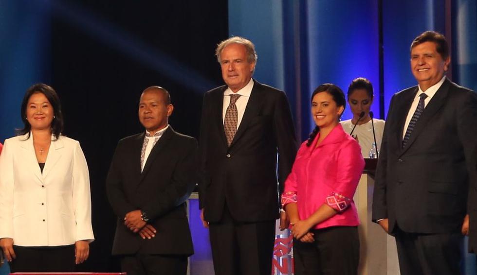 Líderes políticos, entonces candidatos presidenciales, en 2016. (USI)