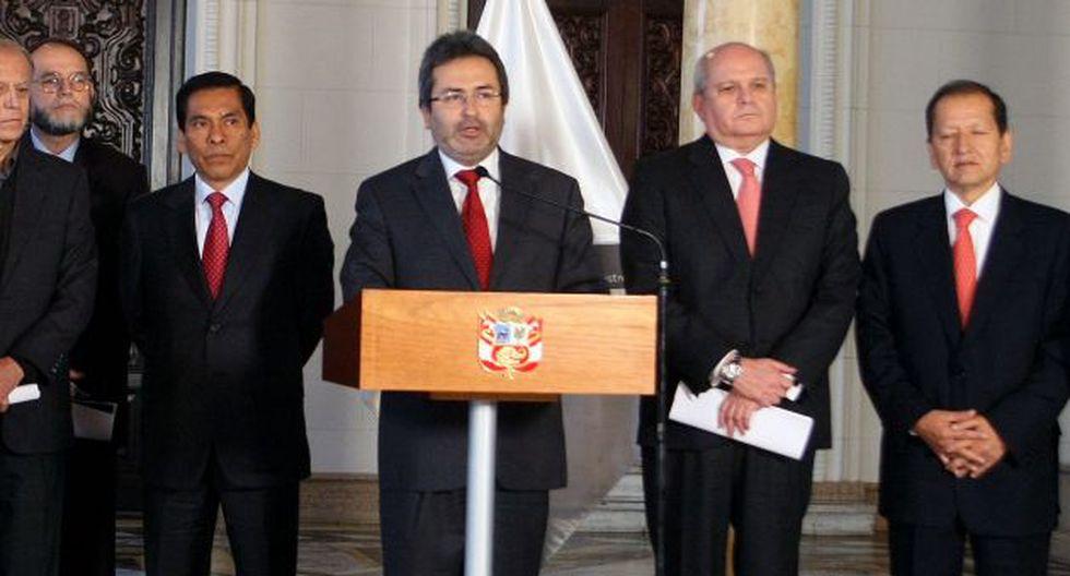 Juan Jiménez habló con la prensa tras cita con PPK. (Nancy Dueñas)