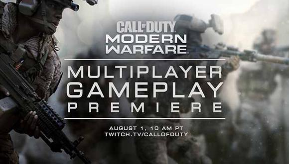 Activision presentará este primero de agosto el modo multijugador de Call of Duty Modern Warfare