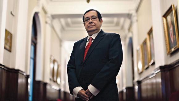 Víctor Prado Saldarriaga. Presidente del Poder judicial. (Mario Zapata)
