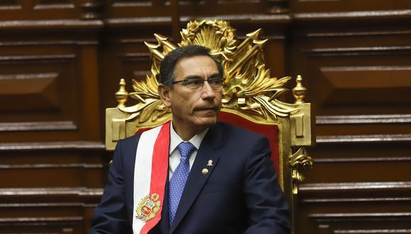 El presidente Martín Vizcarra fue vacado por el Congreso. (Foto: GEC)