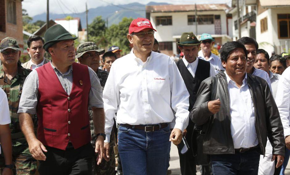 El presidente Martín Vizcarra se reunió con autoridades de la región Pasco (Presidencia).