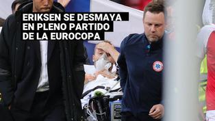 Christian Eriksen se desmayóen pleno partido de la Eurocopa