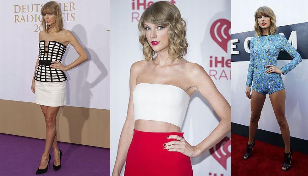 Taylor Swift. Su estilo en la alfombra roja, con el glamour como premisa, le hacen digna merecedora del primer puesto. (Agencias)