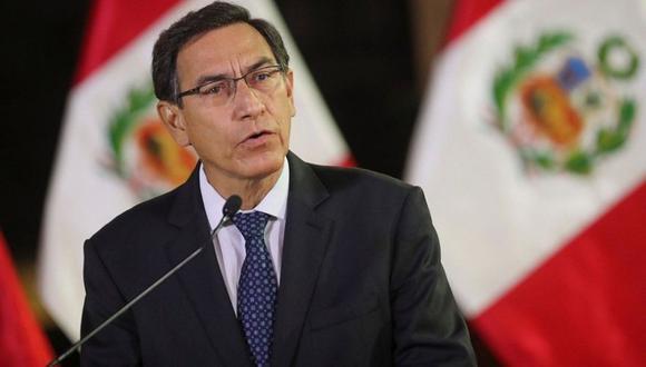 El mandatario Martín Vizcarra es investigado por recibir presuntos sobornos de empresas del Club de la Construcción. (Presidencia)