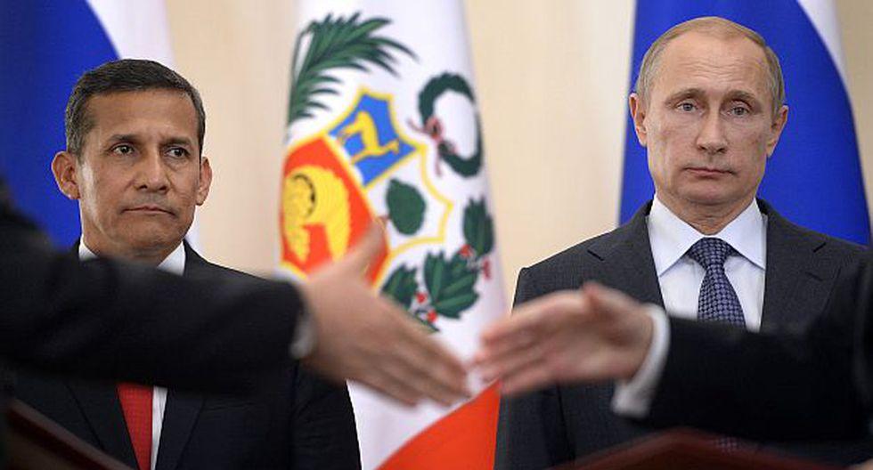 Humala asistió a firma de varios convenios entre nuestro país y Rusia. (AFP)