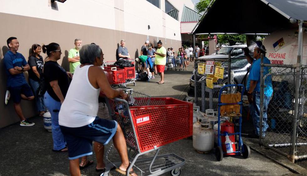 Asi se preparan miles de ciudadanos en Hawái para la llegada del huracán Lane  Foto: Reuters