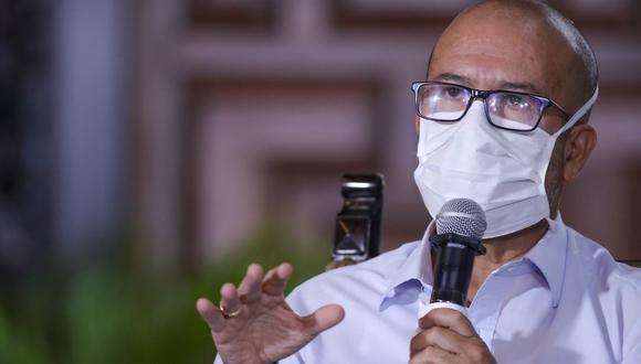 """Zamora explicó que la información que brinda el Gobierno ha sido """"levantada por el comando COVID-19 a cargo de la doctora Pilar Mazzetti"""". (Foto: PCM)"""