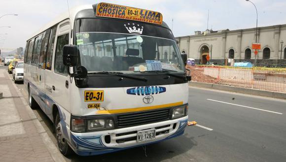 Empresas de transporte que operan en Chosica deben S/.7 mllns por papeletas. (USI)