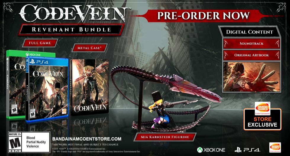 'Code Vein' llegará a PlayStation 4, Xbox One, and PC el 27 de setiembre próximo.