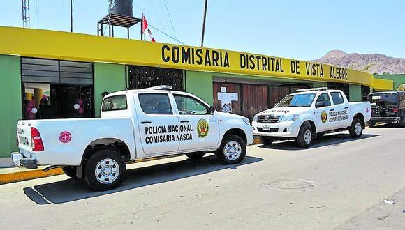 Ica: el último 17 de setiembre, Huanca Huamaní llegó hasta la comisaría de Vista Alegre acompañado de su abogado. (Foto: GEC)