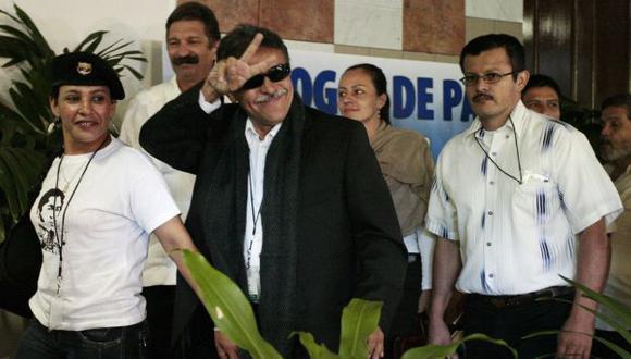 Jesús Santrich, del equipo negociador de las FARC, hizo anuncio esta mañana. (Reuters)