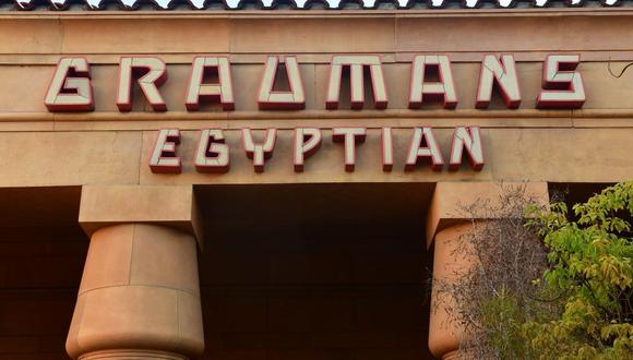 """""""El Egyptian Theatre representa una parte increíble de la historia de Hollywood y ha sido atesorado por la comunidad cinematográfica de Los Ángeles durante casi un siglo"""", dijo el director de Netflix. (Foto: AFP)"""