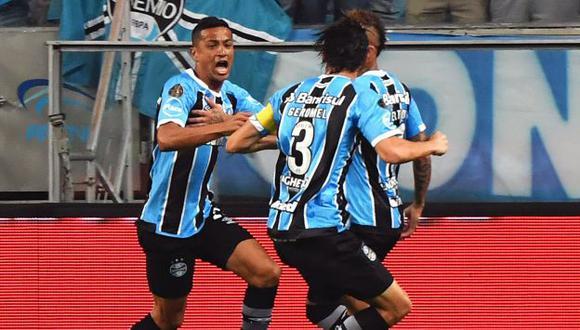 Gremio hizo respetar su casa y ganó de local en la primera final de la Copa Libertadores. (AFP)