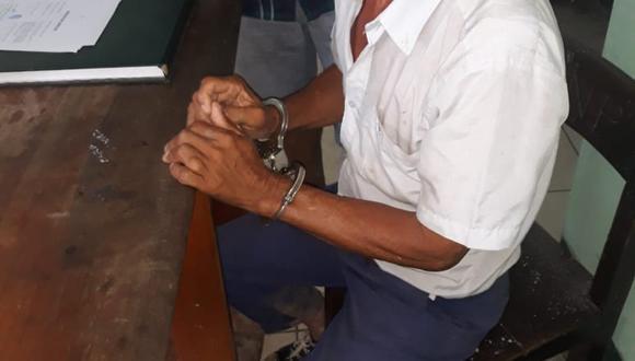 Carmen Vásquez Cabrera (63) fue capturado a bordo de una motocicleta, cuando se dirigía al cementerio de Bellavista. (Foto: Difusión PNP)