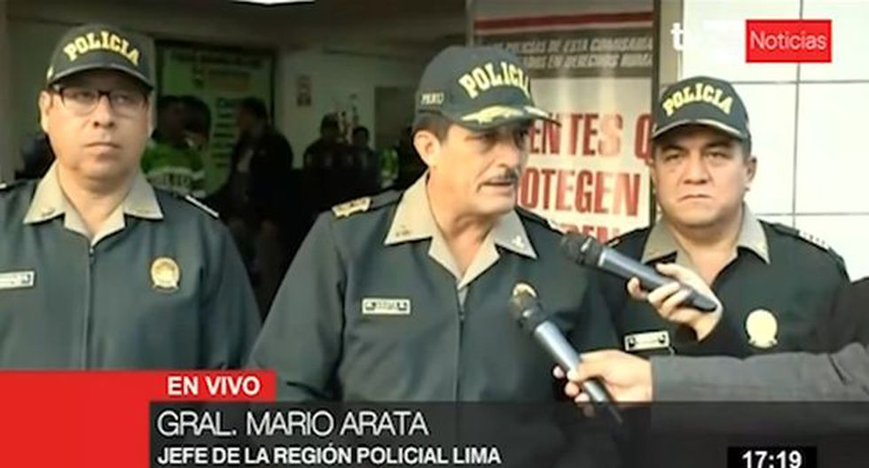 """Mario Arata detalló que estas seis personas fueron detenidas por la comisión del delito contra el patrimonio en la modalidad de """"receptación"""". (Foto: Captura TV Perú)"""