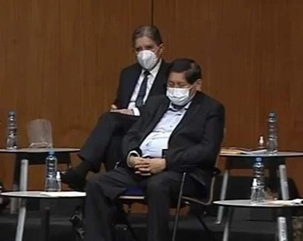 Debate Equipos Técnicos JNE: ¿Se quedó dormido Juan Pari en pleno debate?    POLITICA   PERU21