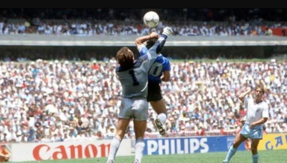 Diego Maradona: Peter Shilton no lo perdona por gol con la mano.  (Foto: Getty Images)
